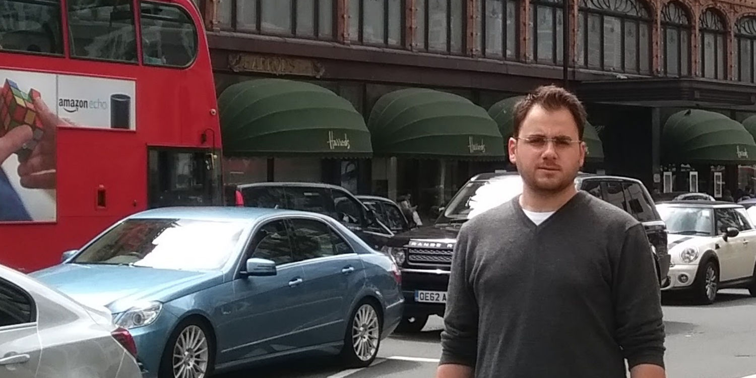 Picture of me before Harrods in London, UK
